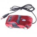 Ratón óptico con forma de coche iluminado con leds.